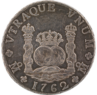 8 Real Coin, Mexico, 1762. Image courtesy of the National Museum of American History.