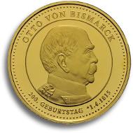 Otto von Bismarck Thaler in Gold.