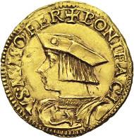 Los 17: Casale. Bonifacius II Palaiologos, 1518-1530. Dukat, CNI 2 var. Ravegnani Morosini 1. MIR 213. Friedberg 169. Ss. Schätzpreis: 50.000 Euro.