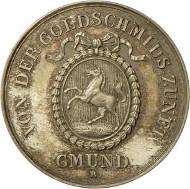 Preismedaille der Goldschmiedezunft in Schwäbisch Gmünd. Landesmuseum Württemberg, Stuttgart, Foto: Adolar Wiedemann.