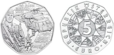 Austria / 2015 / 5 euro / Silver Ag 800 / 28.50 mm / 10 g / Design: Helmut Andexlinger (obverse) and Herbert Waehner (reverse) / Mintage: 50,000.