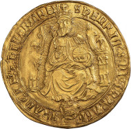 Lot 83 - Henry VIII, third coinage, sovereign, Southwark, mm. Estimate: 26,000 GBP - 28,000 GBP.