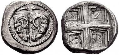 376 - Phokis, Federal Coinage / Delphi, Tridrachm, 485-475. NAC 55 (2010), 376. Estimate: 150.000 CHF / Hammer Price: 475.000 CHF.