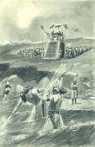 Xerxes lashing the sea. Illustration 1905. Photograph: Wikipedia.