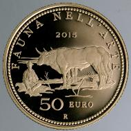 Italy / 2015 / 50 euro / Gold .900 / 16,129 g / 28 mm / Proof / Designer: Annalisa Masini / Mintage: 900.