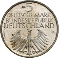 Commemorative coin 'Germanisches Museum', as executed. Auction Künker 264 (June 25, 2015), lot 4358; estimate: 1,000 euros.