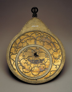 Astrolabe made for the Safavid ruler Shah Husayn (d. 1722). Isfahan, Iran, dated AH 1124 (AD 1712/3). This was in the collection of Sir Hans Sloane, founder of the British Museum. © The Trustees of the British Museum.