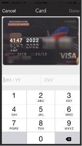 Scan der Kreditkarte.
