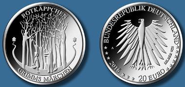 Deutschland / 2016 / 20 Euro / .925 Silber / 18 g / 32,5 mm / Design: Elena Gerber, Berlin. © BADV.