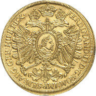 Lot 3765: GERMAN STATES / NUREMBERG. 6 ducats 1631 with title of Ferdinand II. Very rare. Almost uncirculated. Estimate: 60,000,- euros.