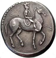Abb. 10: Abstruse Fälschung einer Oktodrachme Alexanders I. von Makedonien