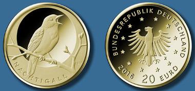 20-Euro-Goldmünze 2016