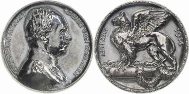 Los 2570: Friedrich August III. 1904-1918. Silbermedaille 1914. (F. Hörnlein). Keil 120 A.F.A. 292 Sehr selten. Vorzüglich. Schätzpreis: 1.300 Euro.