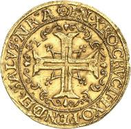 Hamburg. 1/4 portugalöser of 2 1/2 ducats n. d. (1578-1582). Auction Künker 264 (June 24/25, 2015), lot 3680; estimate: 15,000 euros.