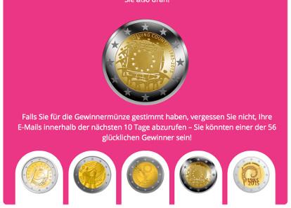 Der Siegerentwurf kommt aus Griechenland, wie auf der Webseite www.coin-competition.eu bekanntgegeben wurde.
