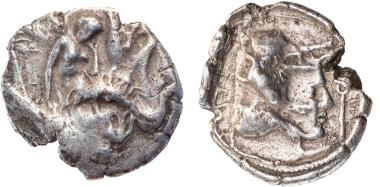 16: Kreta, Gortyn, Stater, Ende 4. Jh., /Anfang 3. Jh. v. Chr., Svoronos 58, RR, IV-V, Taxe 350 Euro.