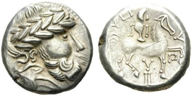 10: DANUBE REGION. 3rd-2nd century BC. Tetradrachm. Dembski 1339. OTA 422.1. Good very fine. Starting bid: 300 CHF.