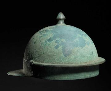 A Roman Hagenau-type bronze helmet, 1st half of the 1st century. Hammer Price: 30,000 Euros.