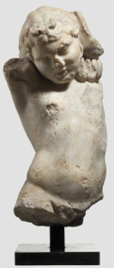 A Roman marble sculpture of a boy, first - second century. Hammer Price: 20,000 Euros.