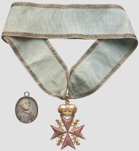 Order pour la Vertu Militaire 1769 and miniature portrait - F.C. von Jungkenn. Hammer Price: 40,000 Euros.