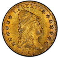 1119: 1798 Capped Bust Right Quarter Eagle. Bass Dannreuther-1. Rarity-5+. Close Date, Four Berries. Mint State-65 (PCGS). Estimate: $200,000-$325,000. Price Realized: $763,750.