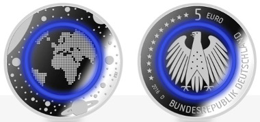 A new security feature for circulation coins which is tested for the first time on a German circulating commemorative coin.