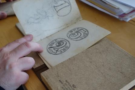 An unpublished manuscript of numismatic content. Photo: UK.