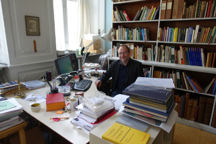Dr Michael Märcher in his office. Photo: KW.