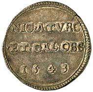 Notmünze, herausgegeben anläßlich der Belagerung von Nizza im Jahre 1543.