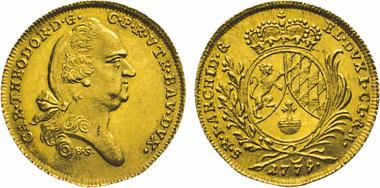 Los 818: Bayern. Carl Theodor von Pfalz-Birkenfeld, 1777-1799. Dukat 1779, München. Witt. 2334. Hahn 349. Friedb. 255.