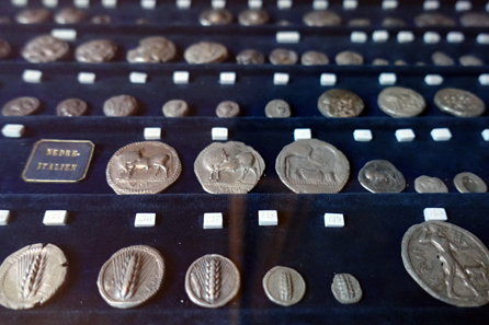 Coin collection of Bertel Thorvaldsen. Photo: UK.