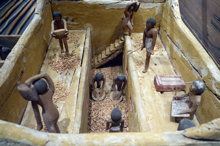 Egyptian tomb model of a granary, c. 2000 BC. Photo: UK.
