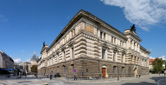 Since the end of WWII the Dresden Albertinum had housed the coin cabinet. Photograph: Vitold Muratov / https://creativecommons.org/licenses/by-sa/3.0/deed.de
