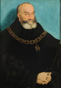Lucas Cranach der Ältere, Porträt Georgs des Bärtigen, Herzogs von Sachsen, um 1534.