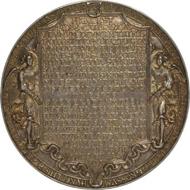 Hans Reinhart d. Ä.: Dreifaltigkeitsmedaille, 1544, Silber, Dm 103,2 mm, © Münzkabinett. Staatliche Kunstsammlungen Dresden, Foto: Roger Paul.