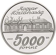 Fineness: Ag .925 - Face value: 5.000 HUF - Diameter: 38.61 mm - Weight: 31.46 g - Mintage: 5.000 pcs Proof - Designer: György Kiss.