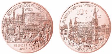 Österreich / 2015 / 10 Euro / Kupfer Cu 999 / 15 g / 32 mm / Entwurf: Thomas Pesendorfer / Siegerin Wettbewerb: Viktoria Pinzer / Auflage: 130.000.