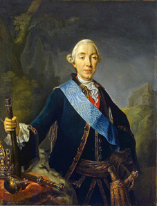Coronation portrait of Peter III of Russia, by Lucas Conrad Pfandzelt, 1762.