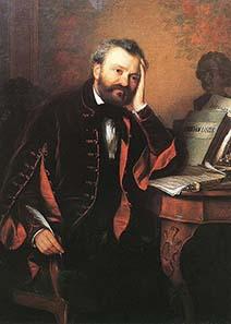 Ferenc Erkel, Gemälde von Györgyi (Giergl) Alajos (1821–1863) / Wikipedia.