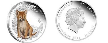 Australia - Mintage: 10.000 - 0.5 oz silver - 0.5 AUD - 99,9 % Fineness - 15.591 g - 36 mm - Designer: Elise Martin
