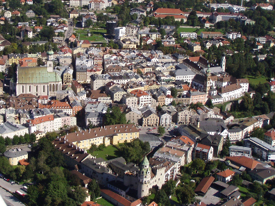 Hall's historical centre is the biggest intact of its kind in western Austria. Photograph: Stadtmarketing Hall.