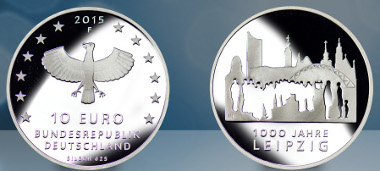 Deutschland / 2015 / 10 Euro / .625 Silber / 16 g / Gestaltung: Anne Karen Hentschel. Foto: Staatliche Münzen Baden-Württemberg.