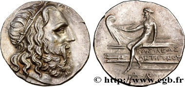 Antigone Doson tetradrachm. UNC. Estimate: 15,000 euro.