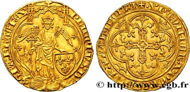Philip VI of Valois. Ange d'or. 1342. EF. Estimate: 16,000 euro.