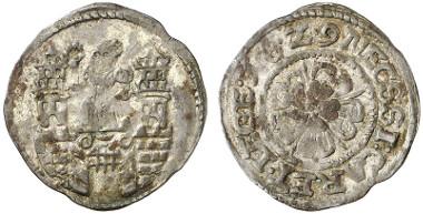 Magdeburg. 1 groschen, 1629. Coinage struck during the siege. Auction sale Künker 237 (2013), 2301.