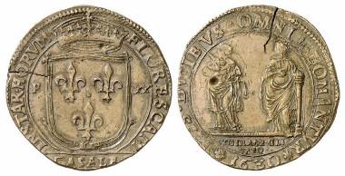 Casale Montferrato. Charles I Gonzaga. 20 fiorini, 1630. Auction sale Künker 175 (2010), 2321.