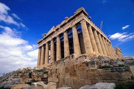 Der Parthenon von Athen - bezahlt mit athenischen Tetradrachmen.
