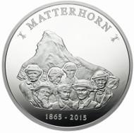 Medaille zur Matterhorn-Erstbesteigung in Silber.
