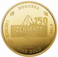 Medaille zur Matterhorn-Erstbesteigung in Gold.
