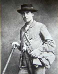 Erreichte am 14. Juli 1865 mit seiner Seilschaft als Erster den Gipfel des Matterhorns: der Brite Edward Whymper. Quelle: Wikipedia.